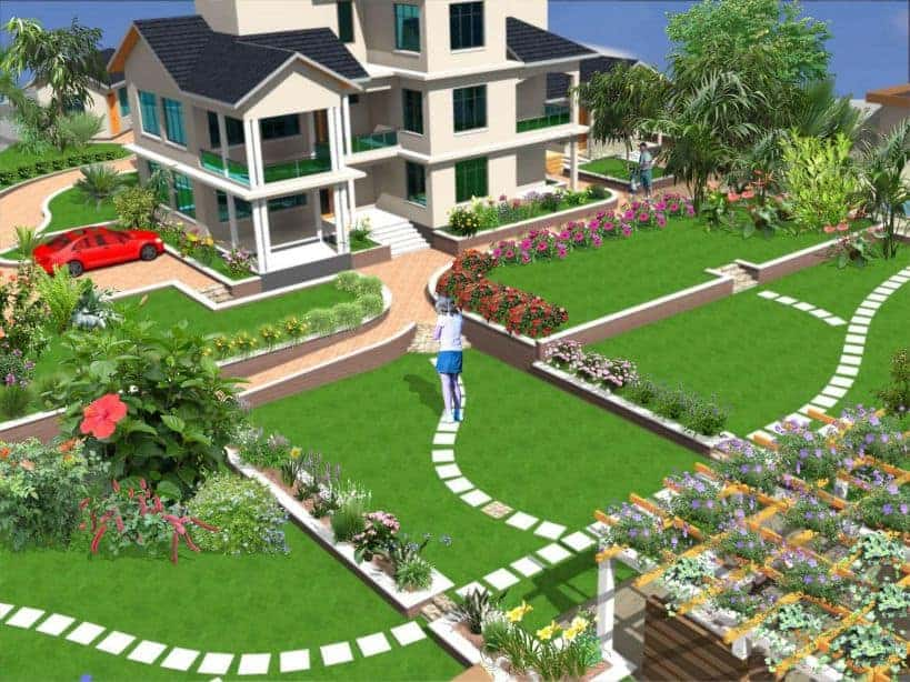 We do residential and commercial landscape design drawing and construction