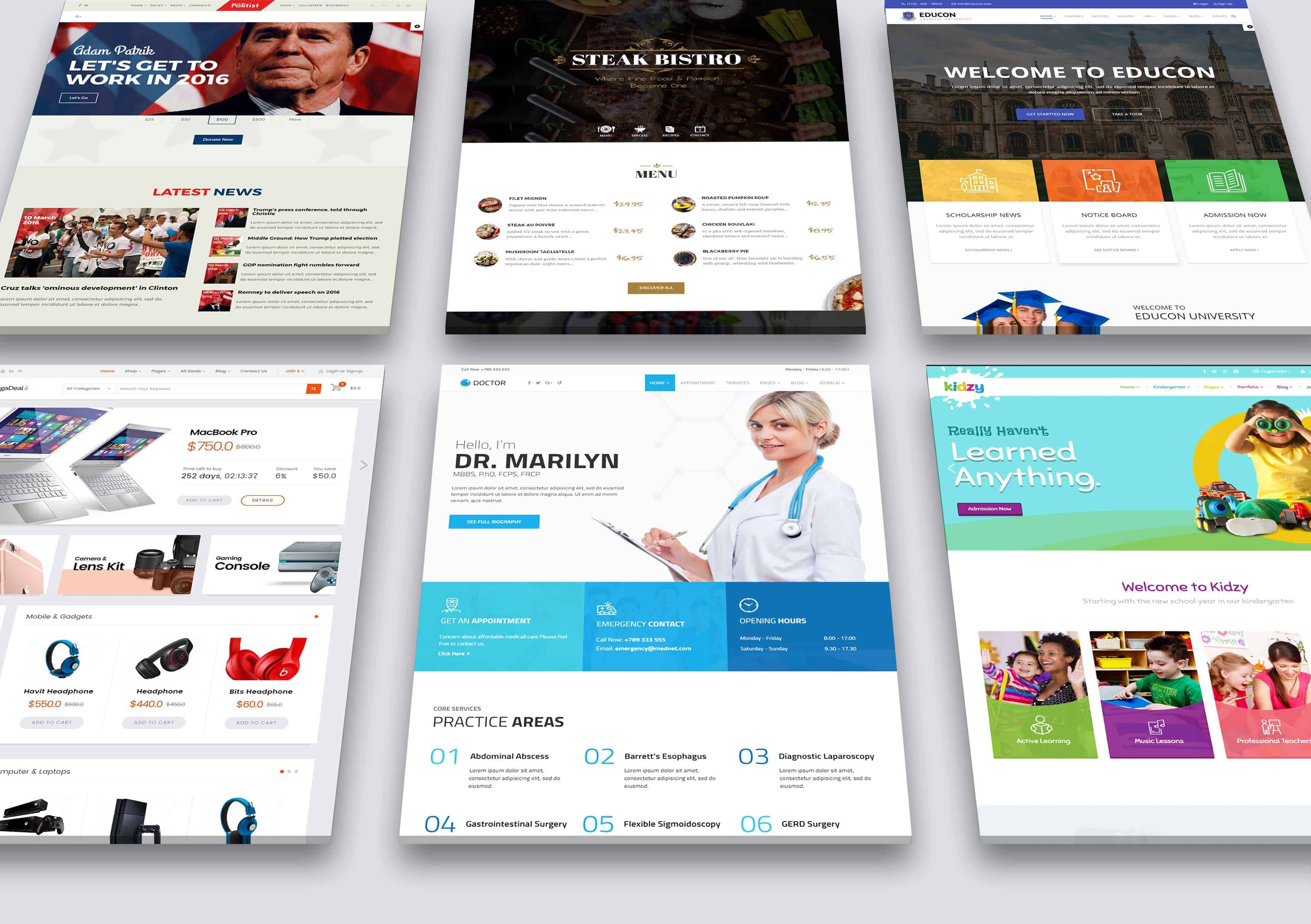 I will design good responsive website for you