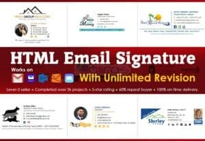 7324I will create professional clickable HTML email signature